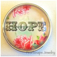 Glass Dome Snap - HOPE