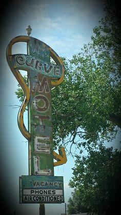 Vintage motel sign outside of La Junta, CO