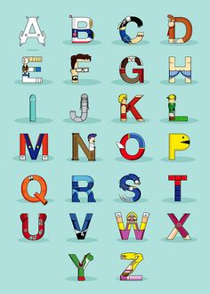 The A-Z of video games...guess what they are?