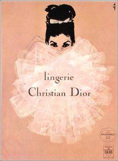 Christian Dior Lingerie by René Gruau