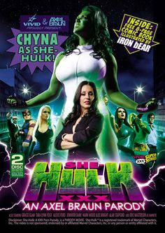 SHE HULK XXX {DD} - She's hot, she's mean, and...she's green! Undisputed porn parody king Axel Braun and adult powerhouse Vivid Entertainment...