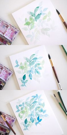 GLAZING WITH WATERCOLORS