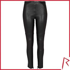 #RihannaforRiverIsland LIMITED EDITION Black Rihanna stretch leather trousers. #RIHpintowin click here for more details >  http://www.pinterest.com/pin/115334440431063974/