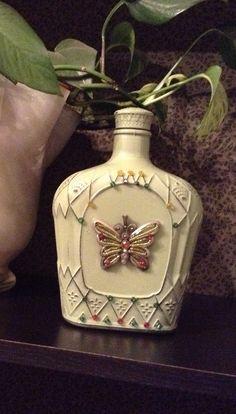 Repurposed crown royal bottle