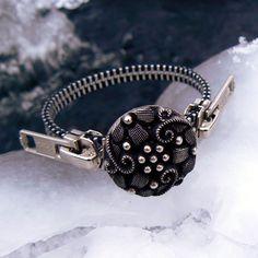 Silver Steampunk Zipper Bracelet
