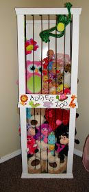 DIY stuffed animal storage I think this would work better with shelves so that if u want to get a specific one u won't have to spend an hour looking for it!