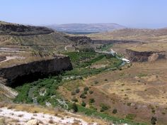 Sea of Galilee and Syrian Golan Heights.