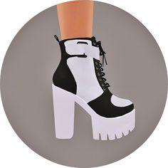 SIMS4 Marigold: Chunky Sneakers Heels