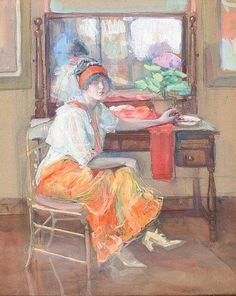 Jane Peterson - Seated Woman