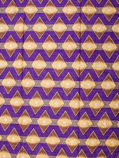 African Fabric Diamond Woodin 6 Yards 100 Cotton by Africanpremier, $34.99