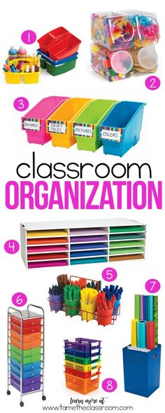 If you are looking to up your classroom organization game, here are few products that might lead you in the right direction.   Tame the Classroom #classroomorganization