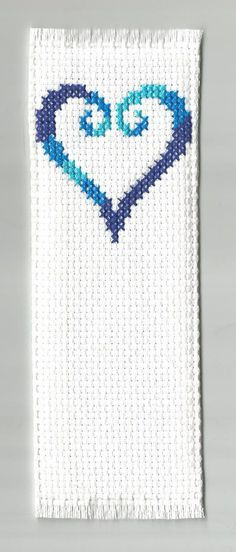 Kingdom Hearts cross stitch bookmark by TonboCurios on Etsy, $15.00