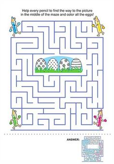 Easter Maze Free Easter activity sheets for children | Bub Hub #printables #colouring #coloring #colouringin #easter
