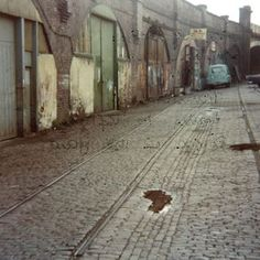 Tramlines and arches alongside the Friar Gate railway bridge and site of Old Station Plymouth England, Devon Uk, Derbyshire, Nottingham, Vintage Pictures, Model Trains, Historical Photos, Arches, Dark Side