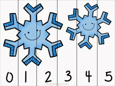 Winter Activities For Kids, Winter Crafts For Kids, Winter Kids, Measurement Kindergarten, Kindergarten Fun, Counting Puzzles, Number Puzzles, Primary Maths Games, Kids Math Worksheets