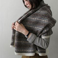 [Envelope Online Shop] Alpaca blanket the linen bird HOUSE & HOME Clothing & Accessories
