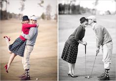 golf engagement shoot...I LOVE all of these photos