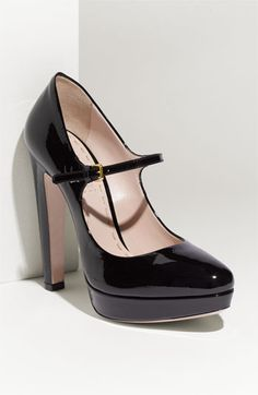 Miu Miu Mary Jane Platform Pump  01cc629015d4d