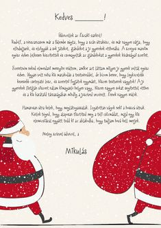 Levél a Mikulástól Christmas Crafts For Kids, Christmas Activities, Christmas Printables, Christmas Themes, Holiday Crafts, Christmas Gifts, Christmas Decorations, Merry Christmas, St Nicholas Day