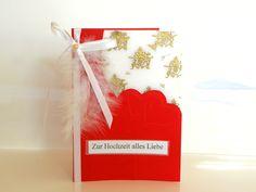 Grußkarte, Glückwunschkarte, 3D Karte, Hochzeit... von Luisa Ventocilla Shop auf DaWanda.com