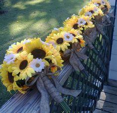 17 piece Sunflower Bouquet Burlap Wedding Flower Set  ~ Great pin! For Oahu architectural design visit http://ownerbuiltdesign.com