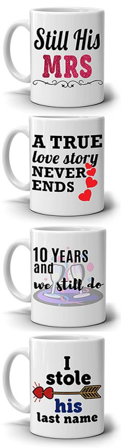 BRIGHT COLORED PRINTED BOTH SIDES - Print that last lifetime to enjoy longer use for a cup for couples marriage anniversary, wedding, birthday, engagement and valentines day.
