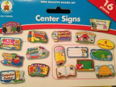"Carson Dellosa ""Center Signs""- A Mini Bulletin Board Set 16 Pieces & a Guide 