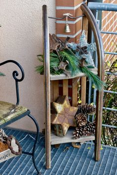 Winter decoration in the outdoor area- Winterdeko im Außenbereich Winter decoration outdoors – Karin Urban – Natural STyle - Outdoor Christmas, Christmas Time, Xmas, Natural Christmas, Christmas Yard Decorations, Winter Decorations, Party Decoration, Christian Cards, Navidad Diy