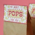 Valentine Popcorn Treat Bags - Free Printable