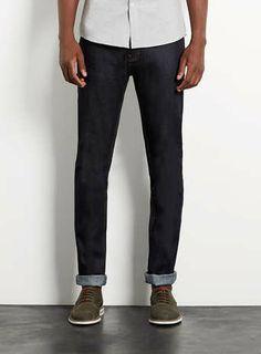 Raw Denim Stretch Skinny Jeans