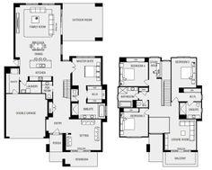 House Designs & New Homes: Melbourne - Metricon Modern House Floor Plans, Pool House Plans, Luxury House Plans, Free House Plans, Family House Plans, Double Storey House Plans, Pool House Designs, Melbourne House, House Blueprints