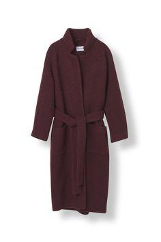 GANNI Fenn Long Wrap Coat kr. 2899,-