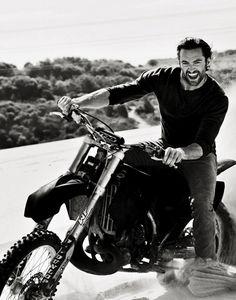 Hugh Jackman on a motorbike...yum! Still can't get over that he was a P.E Teacher, that he wasn't MY P.E Teacher!