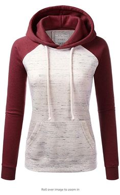 Women's mid weight cozy warm hooded casual fleece sweatshirts Features long sleeves, drawstring hood, kangaroo pocket and soft material. Available in Various Colors and Designs! Please be advised to see our size chart for the most accurate fit. How To Shrink Clothes, Sweater Hoodie, Pullover, Fashion Brands, Fashion Tips, Hoodies, Sweatshirts, Long Sleeve, Casual