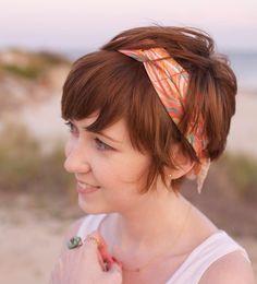 Cute style for short hair