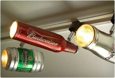 Beer Can Track Lighting for the man cave