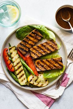 EASY & HEALTHY grilled tofu seasoned with a cajun-spiced marinade! Perfect for weeknight meals or BBQs! #sponsored