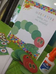 """make your own caterpillar"" an activity for the toddlers"