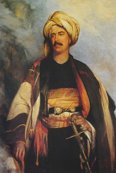 David Roberts dressed in oriental clothing