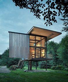 Steel-Clad Fishing Cabin by Olson Kundig