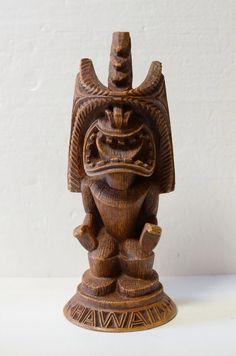 """Coco Joe's #151 Tiki Statue Hawaiian Hula CocoJoe's 10.5 """" Tall, Aloha, Tiki Decor, Exotic Sculture Always Negotiable ! by Curioshop1 on Etsy https://www.etsy.com/listing/228808653/coco-joes-151-tiki-statue-hawaiian-hula"""