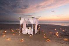 Romantic dinners on the beach