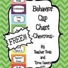 "FREE Clip Chart Behavior Management System - Cute Chevrons  This is my version of the Oh-So-Popular ""Clip Chart Behavior Management System"" to matc..."