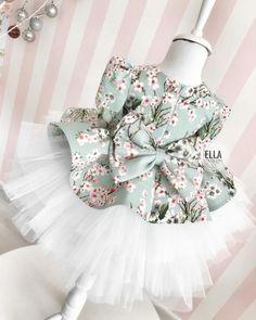 Bahar çiçeklerimizin detayı🌿🌸💚 Baby Dress Patterns, Baby Clothes Patterns, Baby Kids Clothes, Little Girl Outfits, Kids Outfits, Baby Girl Fashion, Kids Fashion, Diy Maxi Skirt, Robes Tutu