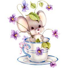 61 Ideas For Garden Illustration Mice Cute Animal Illustration, Garden Illustration, Cute Animal Drawings, Cute Drawings, Art Mignon, Cute Rats, Cute Clipart, Cute Mouse, Pics Art