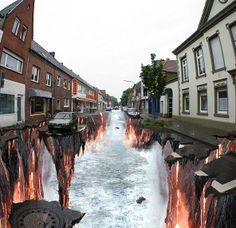 3-D Street Art.