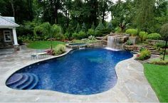An outdoor pool one of the things I would want if I lived in Florida