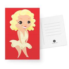 Cartão Marilyn Monroe de @estudioagridoce | Colab55
