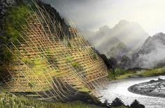 O arranha-céu Mountain Band-aid é integrado à montanha Yunnan