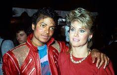 Michael Jackson and Olivia Newton John
